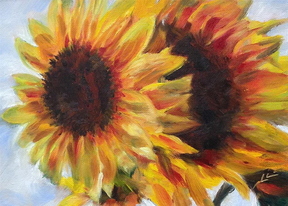 """""""Up Against the Sky"""" original fine art by Linda Lowery"""