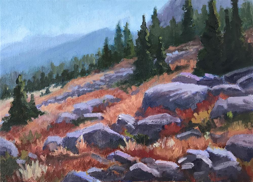"""End of Summer in the High Country"" original fine art by Gary Alsum"