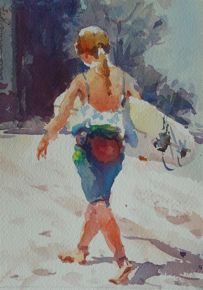 """""""Going Home"""" original fine art by Lorraine Lewitzka"""
