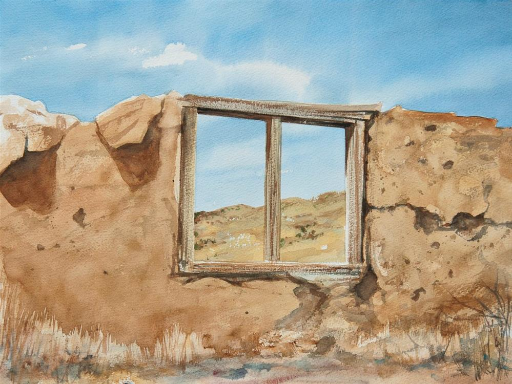 """Adobe Window"" original fine art by Rafael DeSoto Jr."
