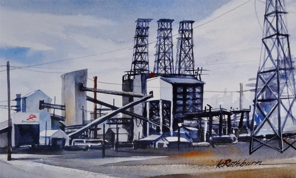 """Insights on Industry VIII"" original fine art by Kathy Los-Rathburn"