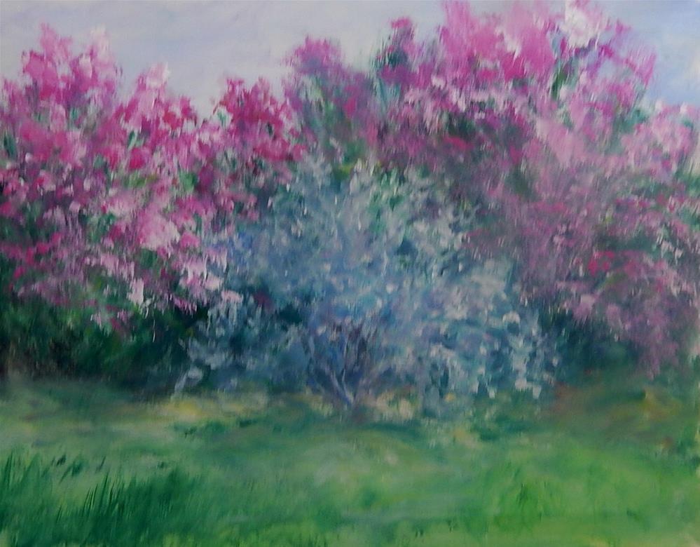 """""""Texas Ranger in Bloom"""" original fine art by Sharon Kay Baker"""
