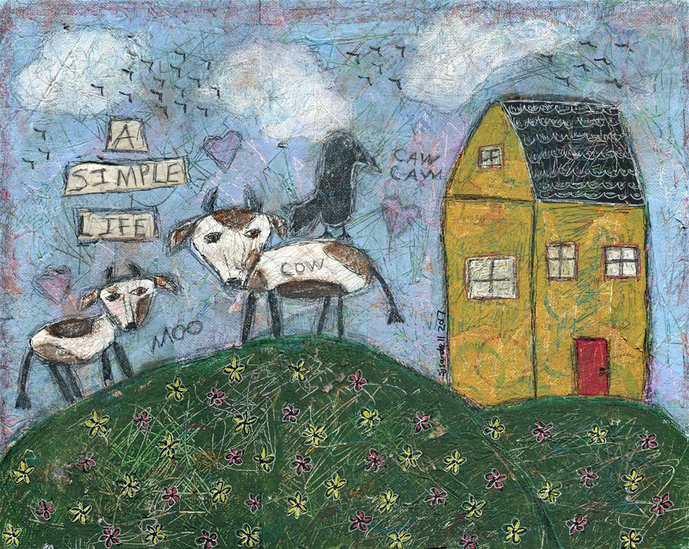 """A Simple Life"" original fine art by Sonja Sandell"