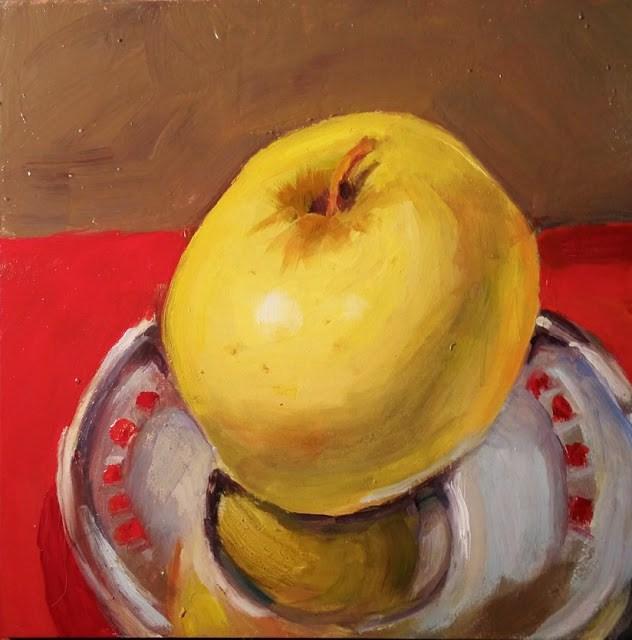 """Royal Apple On Silver Platter"" original fine art by Wendy Starita"