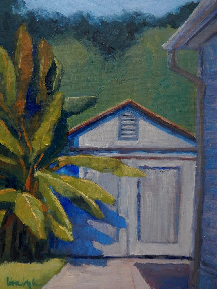 """The Banana Tree"" original fine art by Lisa Kyle"