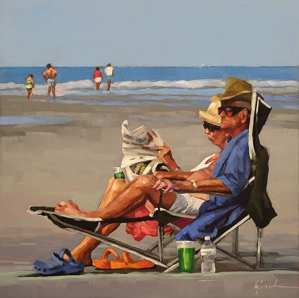 """Retirement Benefits"" original fine art by Karin Jurick"