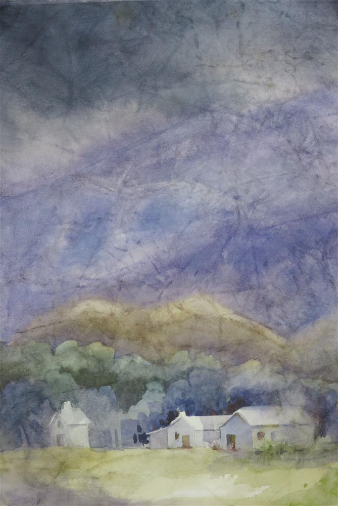 """Stormy Day in Lone Pine"" original fine art by Julie Crouch"