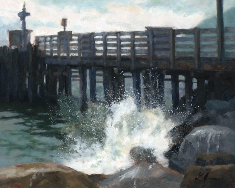 """Breaking Wave"" original fine art by Linda Jacobus"