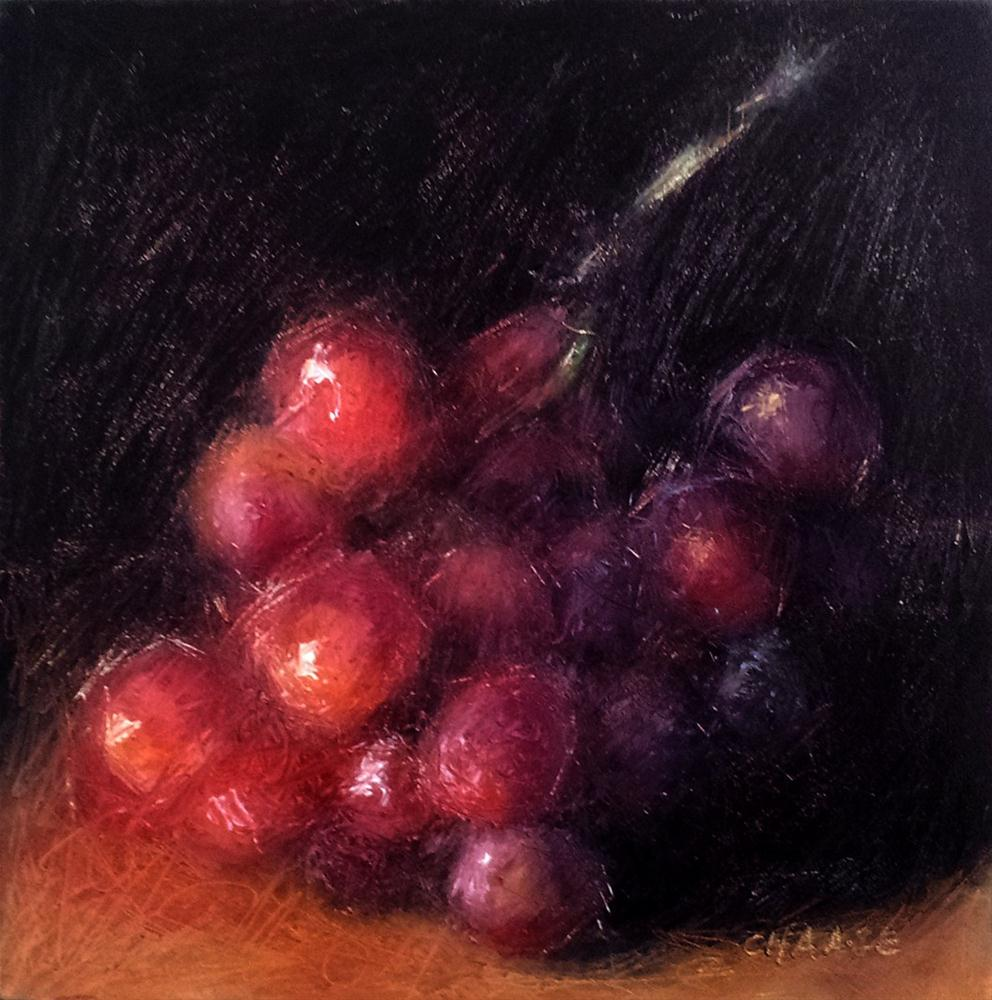 """Red Grapes - Grapes Number 2"" original fine art by Cindy Haase"
