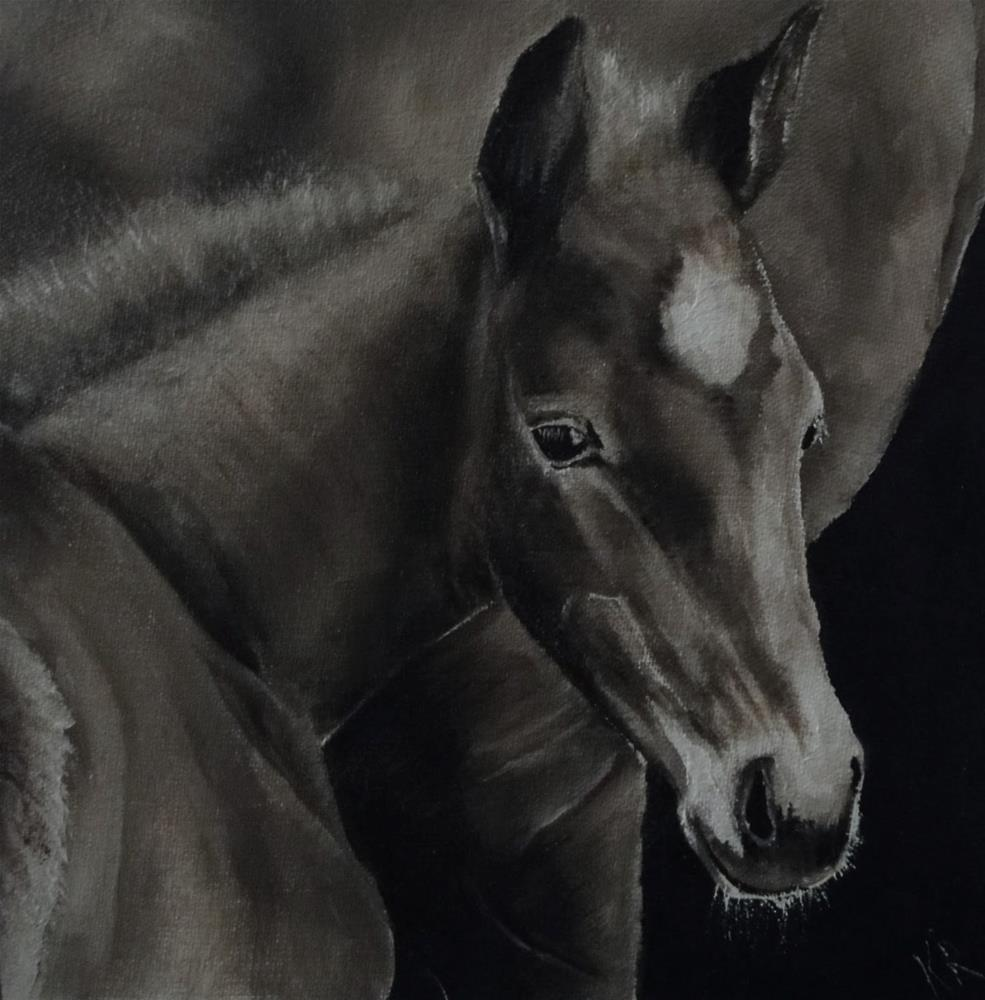 """Staying close - a value study"" original fine art by Karen Robinson"