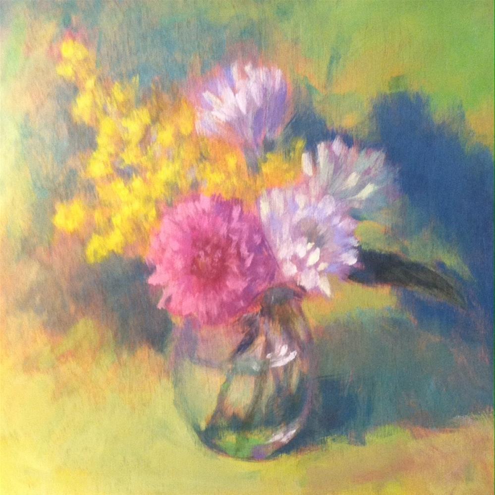 """""""Green Bouquet"""" original fine art by Katharine March"""