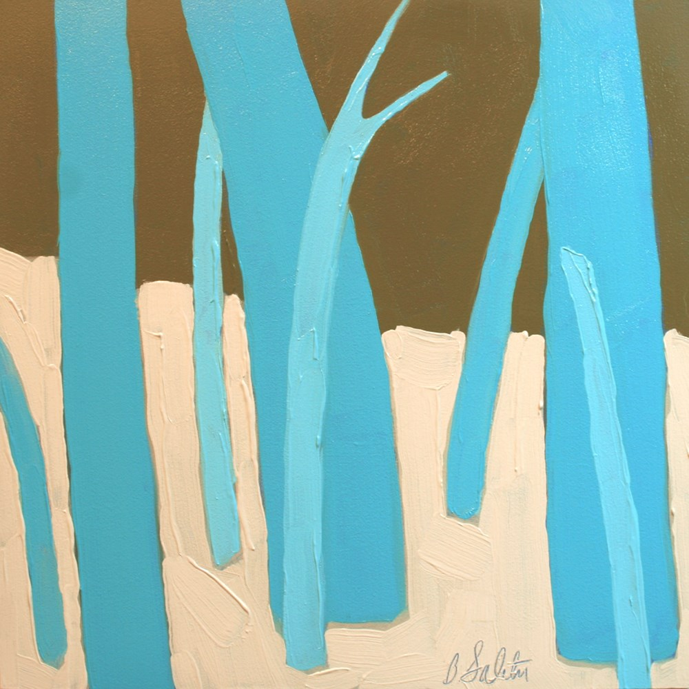 """""""trees without leaves I - variation 18"""" original fine art by Barb Saletri"""