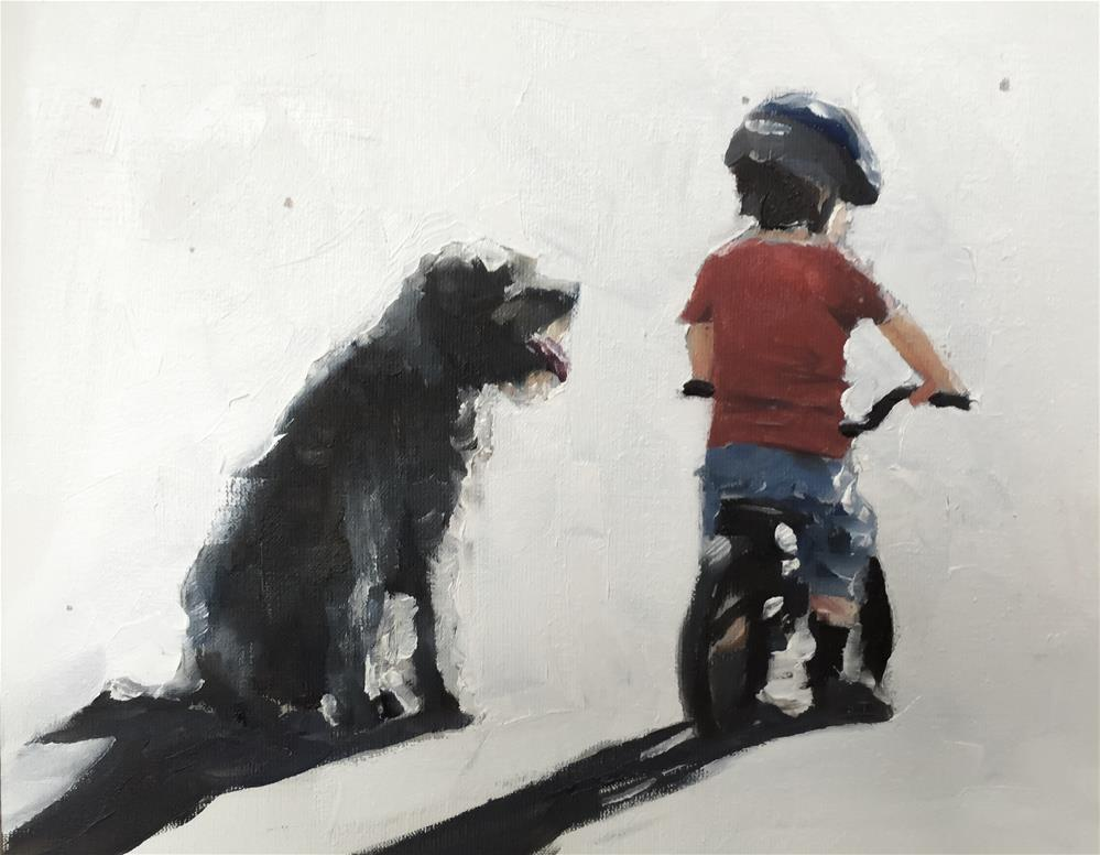 """Best Pals"" original fine art by James Coates"