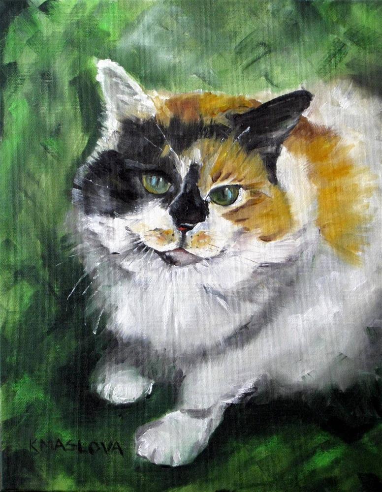 """Missy"" original fine art by Kulli Maslova"