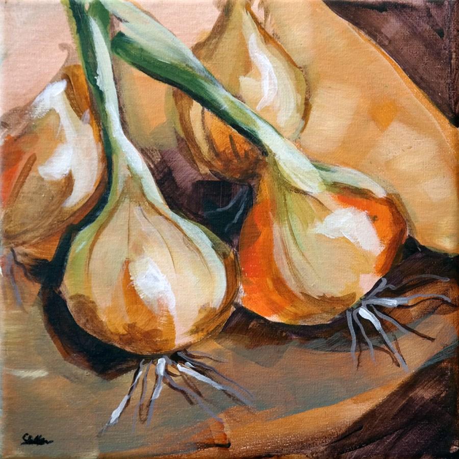 """1335 Four Onions Demo"" original fine art by Dietmar Stiller"
