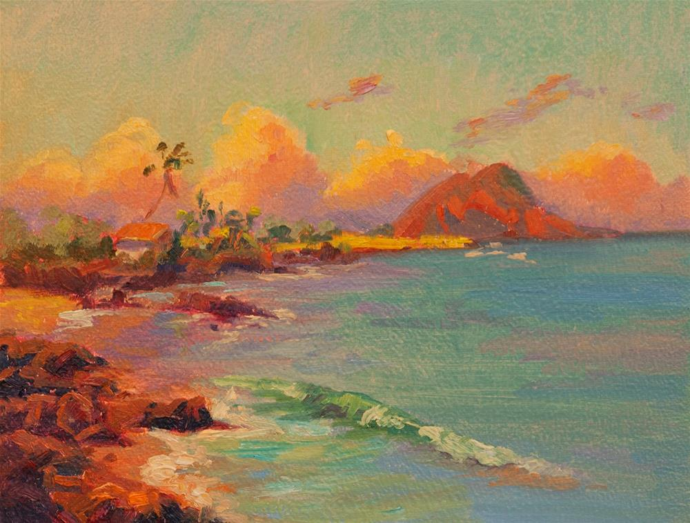 """MAKENA LANDING"" original fine art by Karen E Lewis"