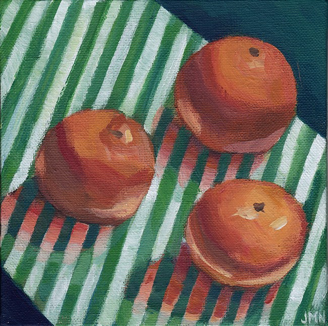 """Clementines: Stripes"" original fine art by J M Needham"