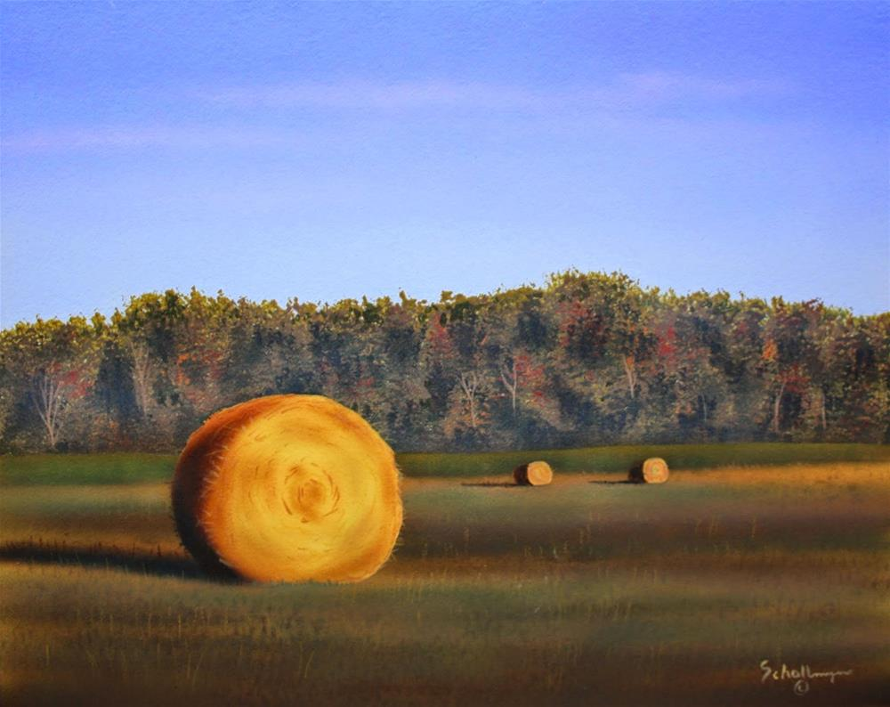 """East Hay Field (Early Morning)"" original fine art by Fred Schollmeyer"