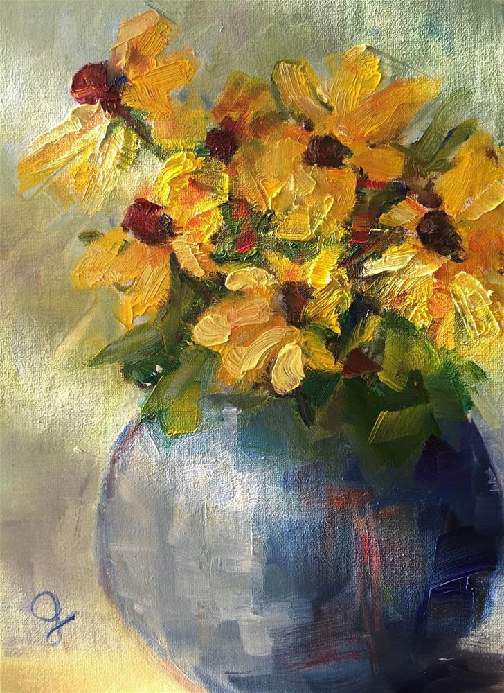 """Flowers for the Teacher"" original fine art by Gayle Lambeth"