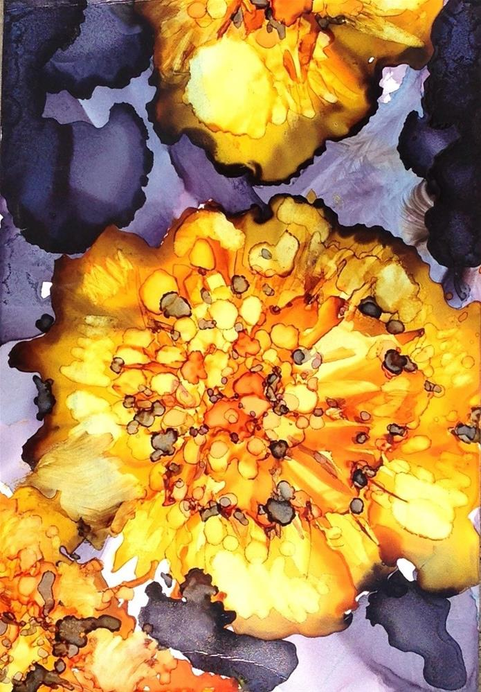 """Marigolds"" original fine art by Kelly Alge"