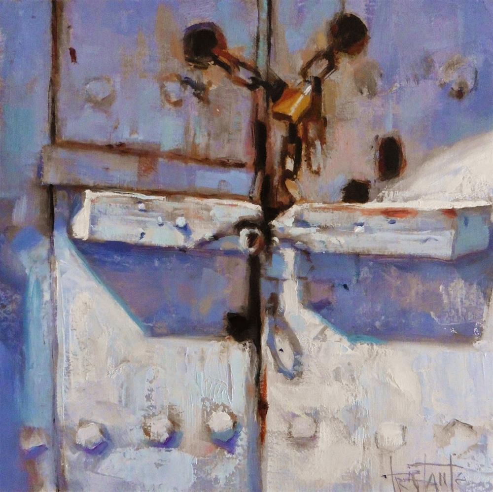 """""""Old door"""" original fine art by Víctor Tristante"""