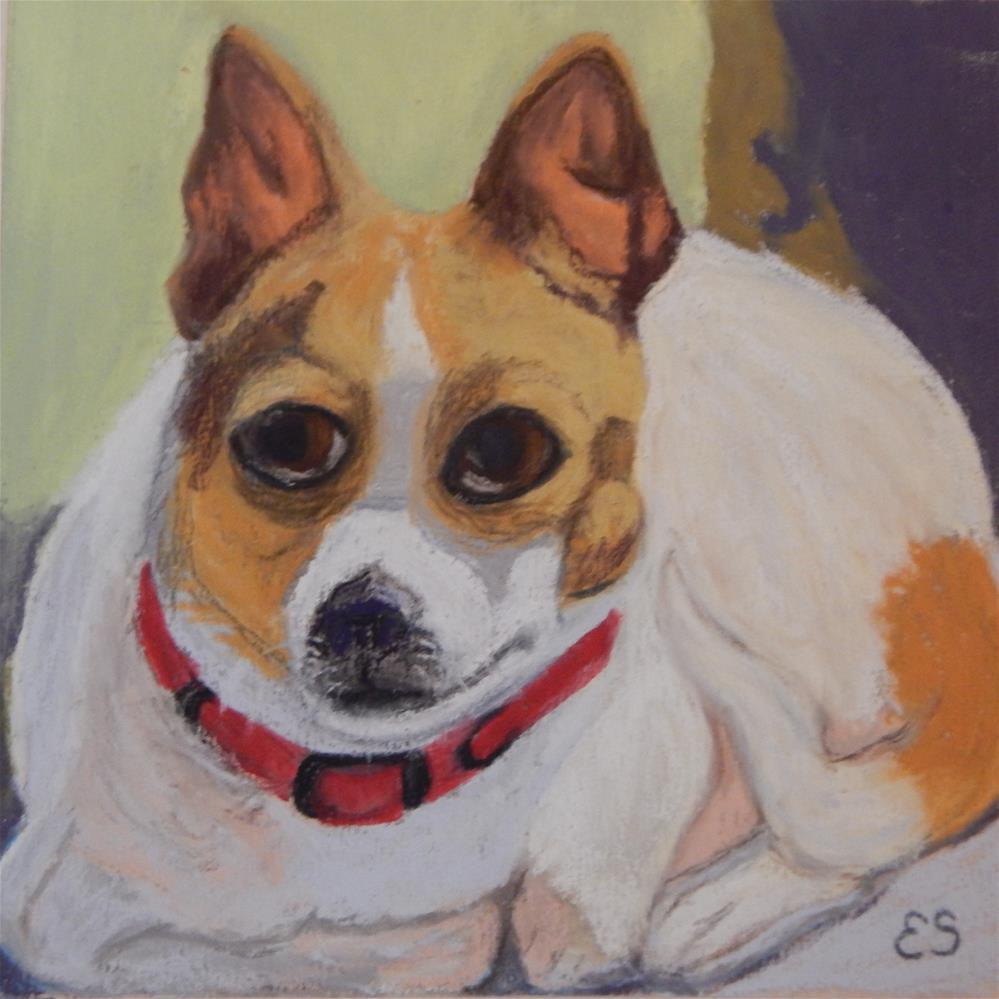 """My Dog, Jack"" original fine art by Elaine Shortall"