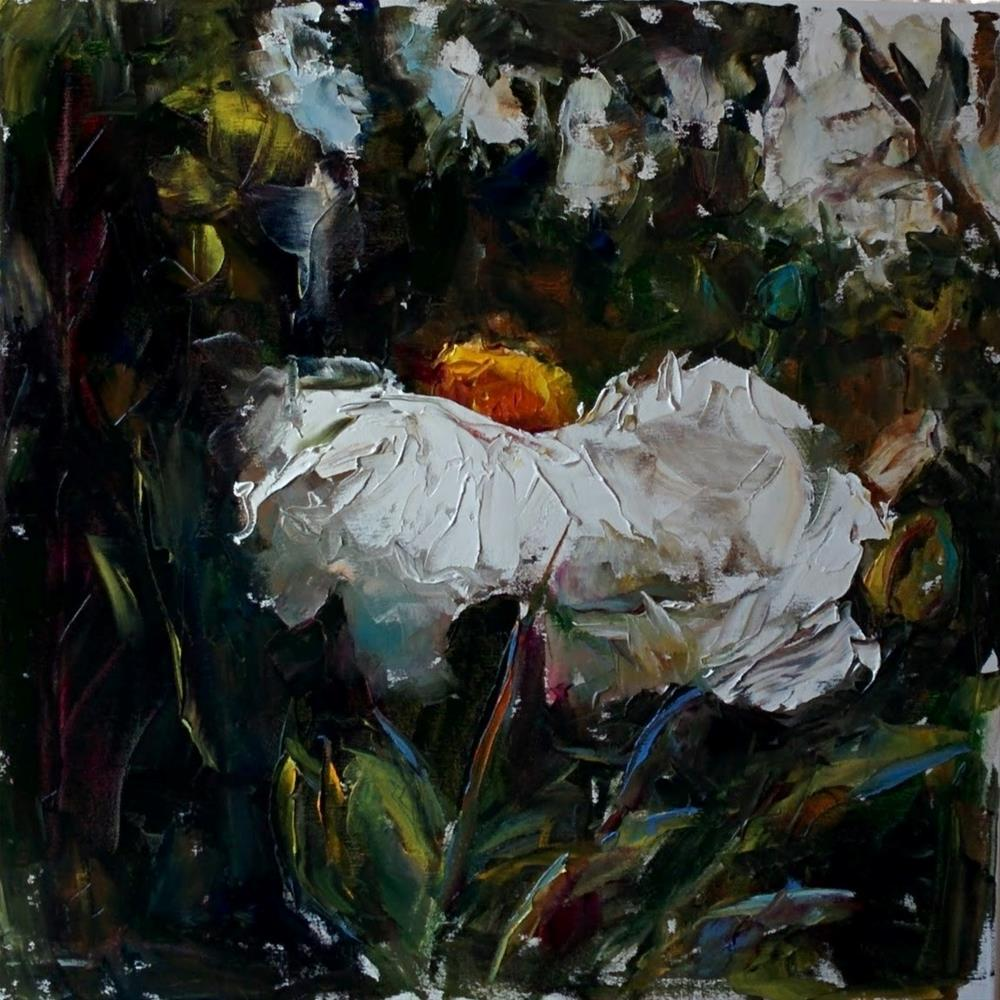"""Matilija Poppy "" original fine art by pepa sand"