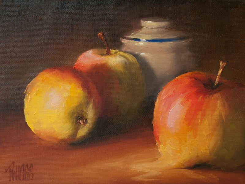 """Apple Study 1"" original fine art by Lori Twiggs"