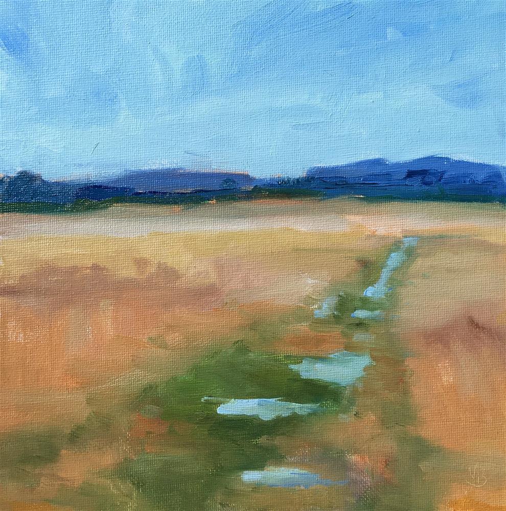 """Watery Path"" original fine art by Victoria  Biedron"