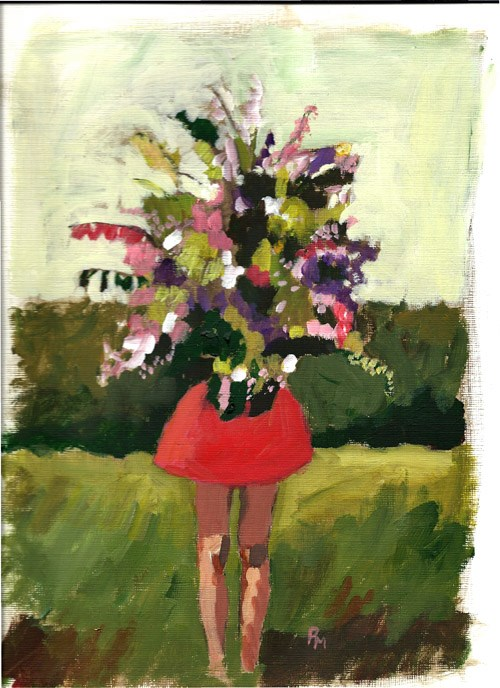 """Flower Girl"" original fine art by Pamela Munger"
