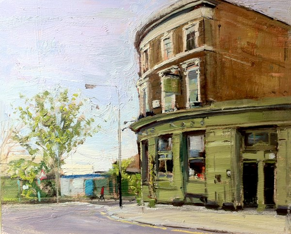 """Morning Greys, Lots Road Pub and Dining Room"" original fine art by Adebanji Alade"