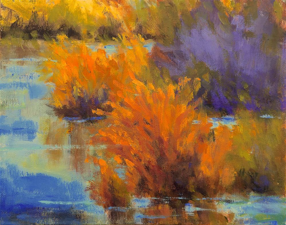 """""""Wetlandia"""" original fine art by Victoria  Biedron"""