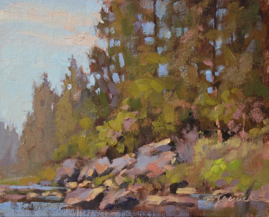 """""""Afternoon in Sawyer Park"""" original fine art by Barbara Jaenicke"""
