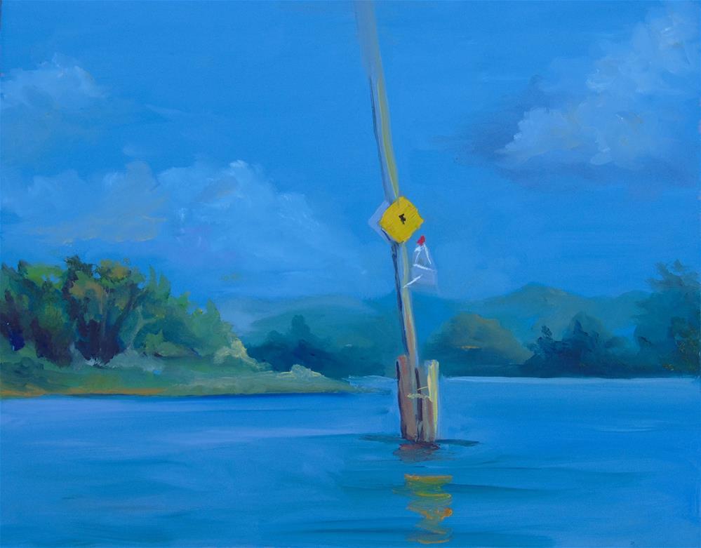 """Channel Marker II"" original fine art by Catherine Kauffman"