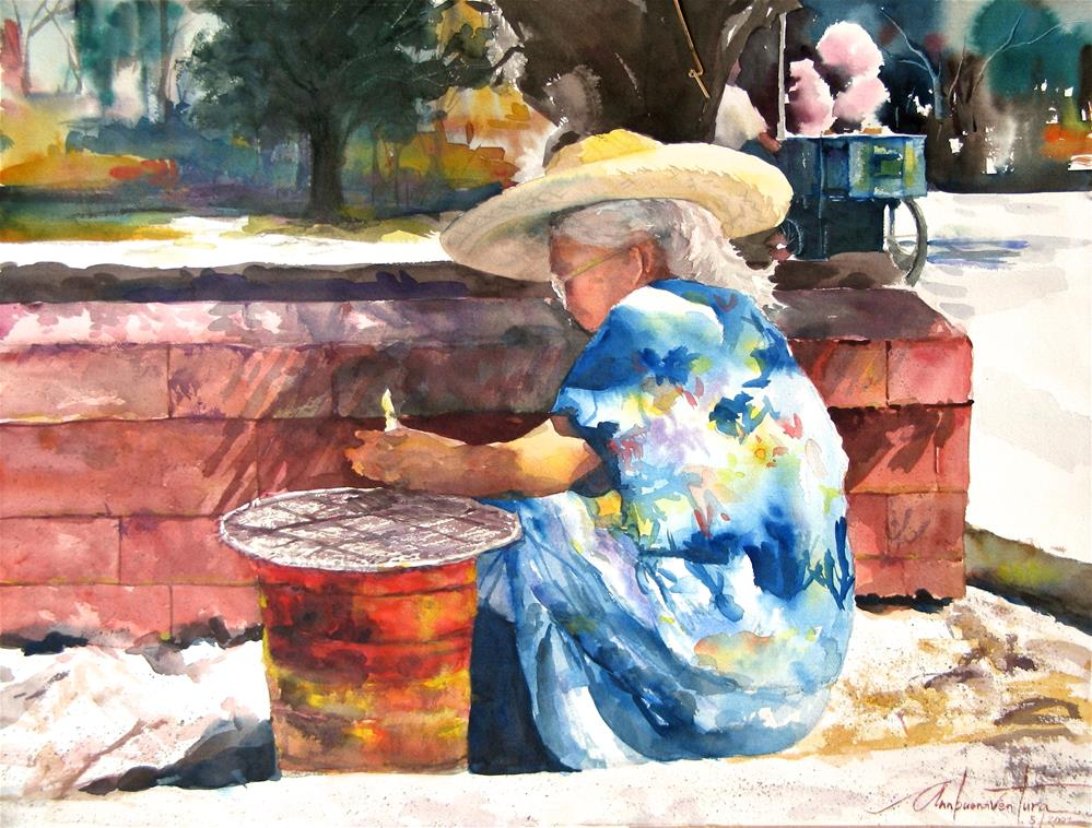 """Candle Vendor"" original fine art by Ann Buenaventura"
