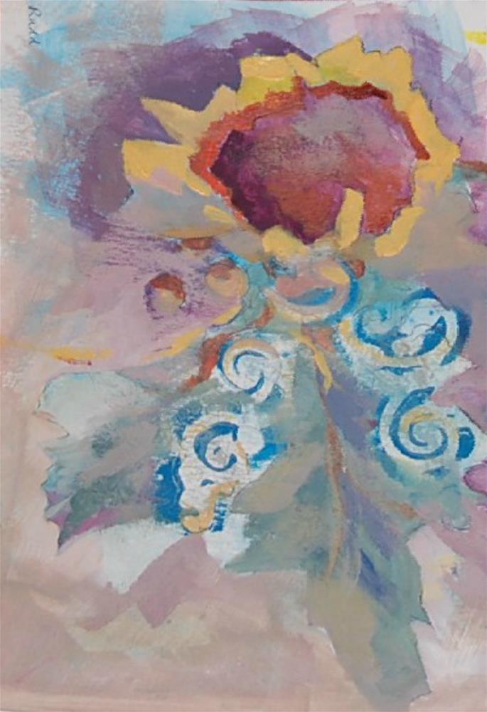 """""""Sunset"""" original fine art by Ann Rudd"""