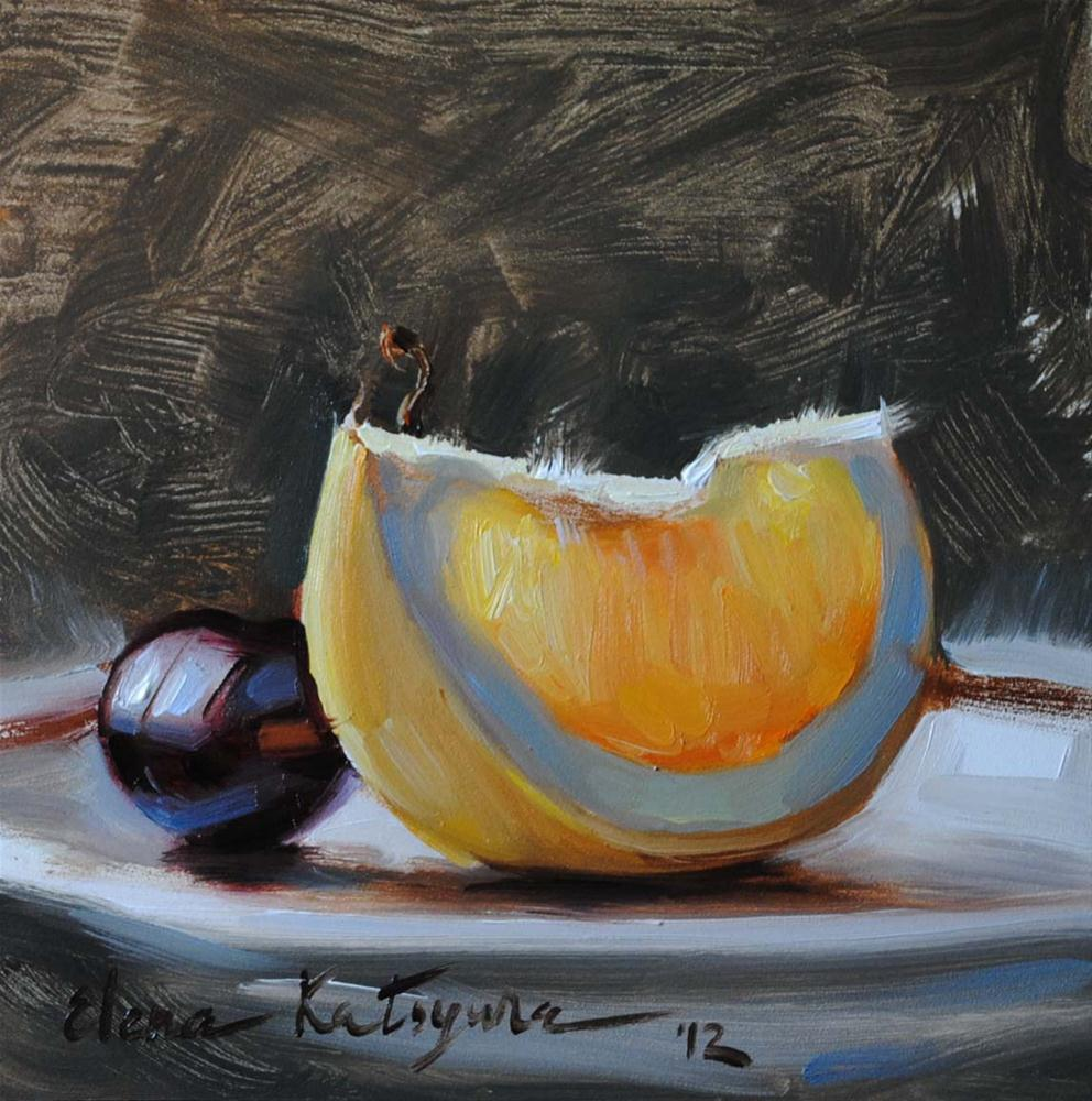 """Slice of Grapefruit"" original fine art by Elena Katsyura"