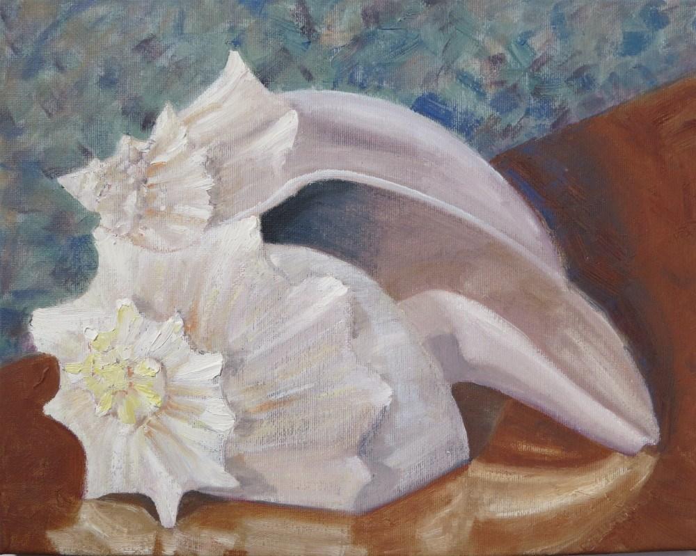 """Two Shells"" original fine art by Richard Kiehn"