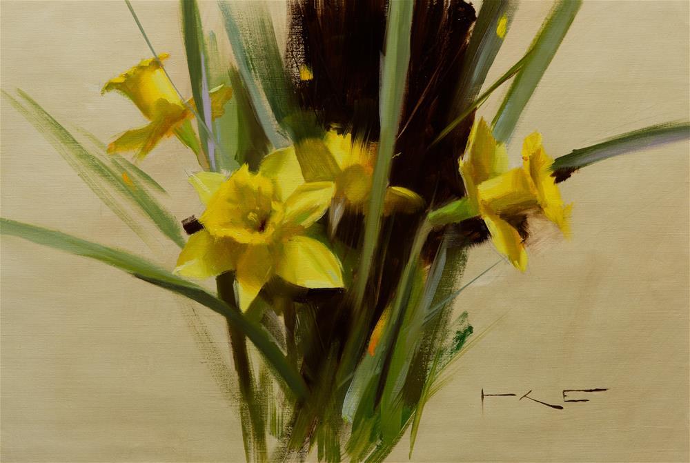 """""""Daffodils"""" original fine art by Thorgrimur Andri Einarsson"""