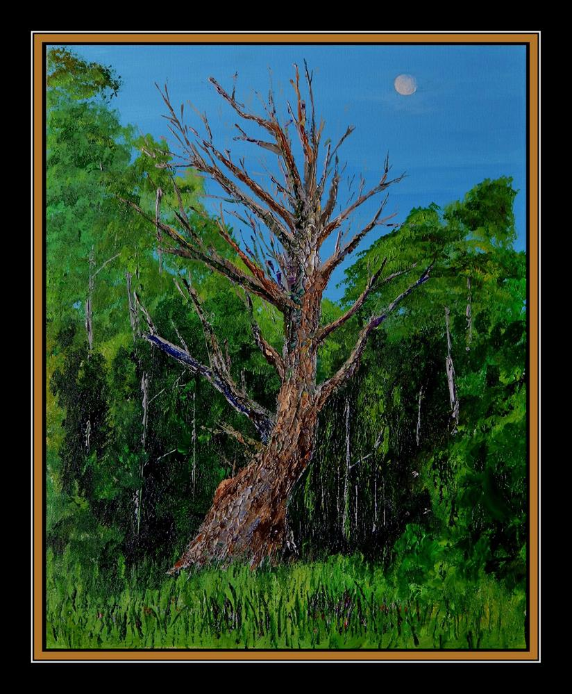 """Old Man and the Moon"" original fine art by Captain B Smith"