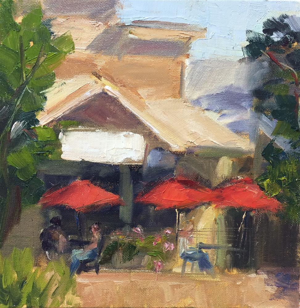 """Cafe in Winters, CA"" original fine art by Naomi Bautista"