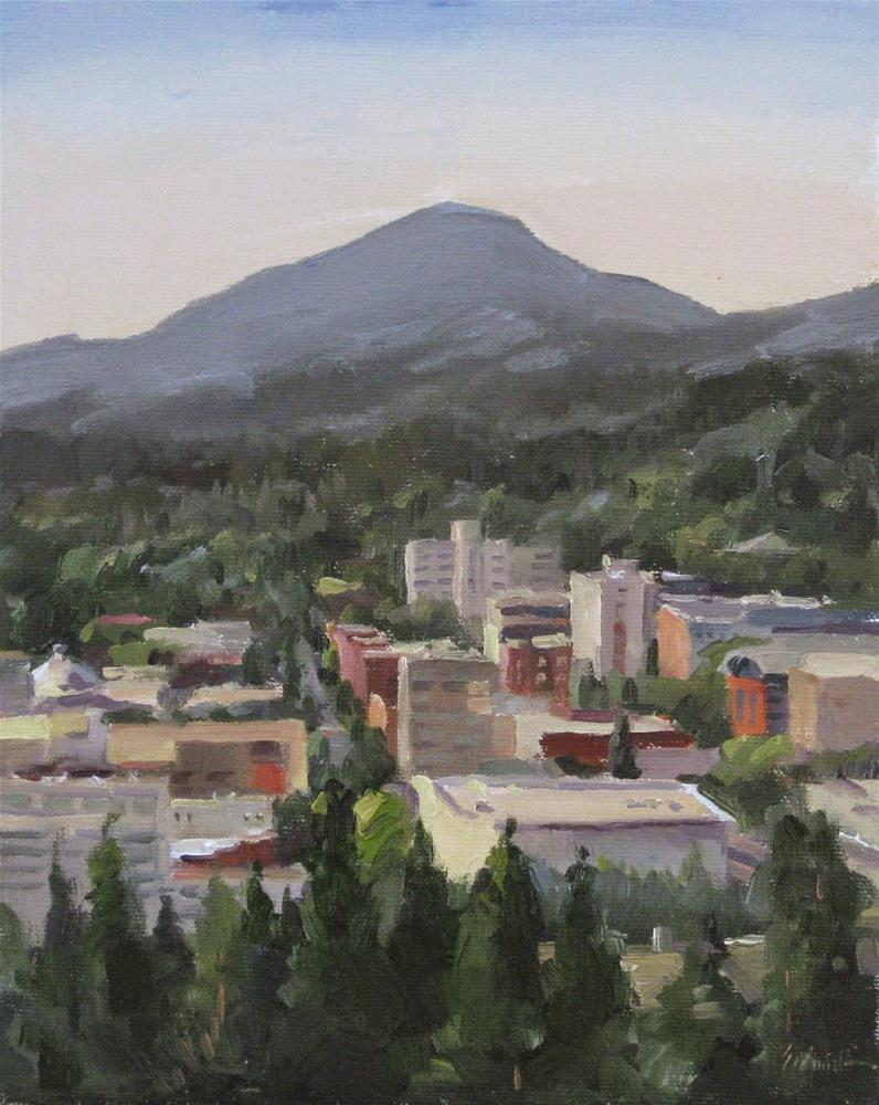 """View From Skinner Butte"" original fine art by Sarah Sedwick"
