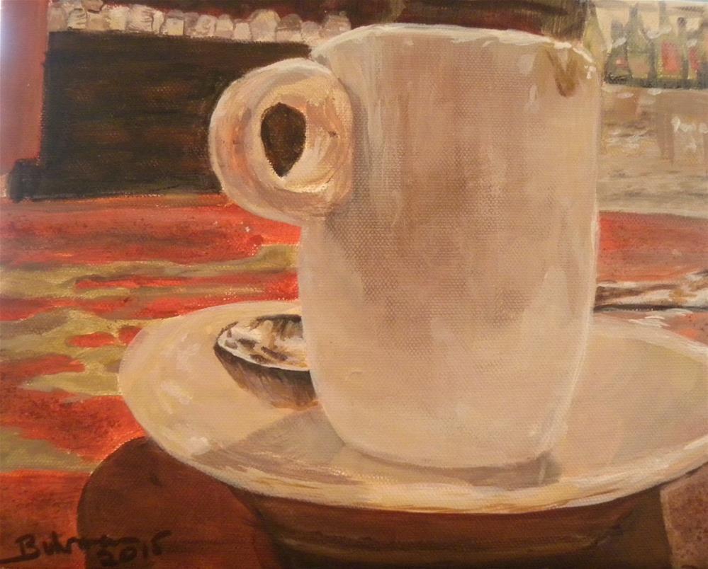 """Espresso"" original fine art by cheryl buhrman"