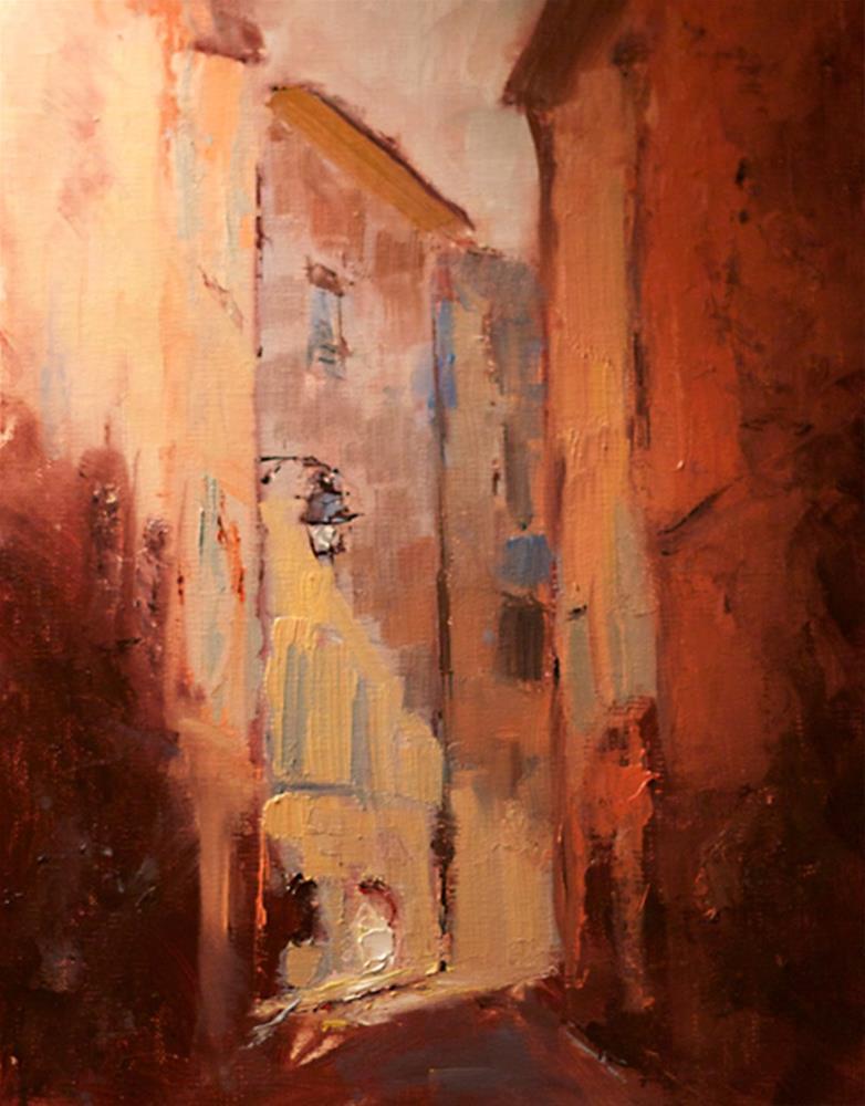 """Narrow Street"" original fine art by Fine Art of René"