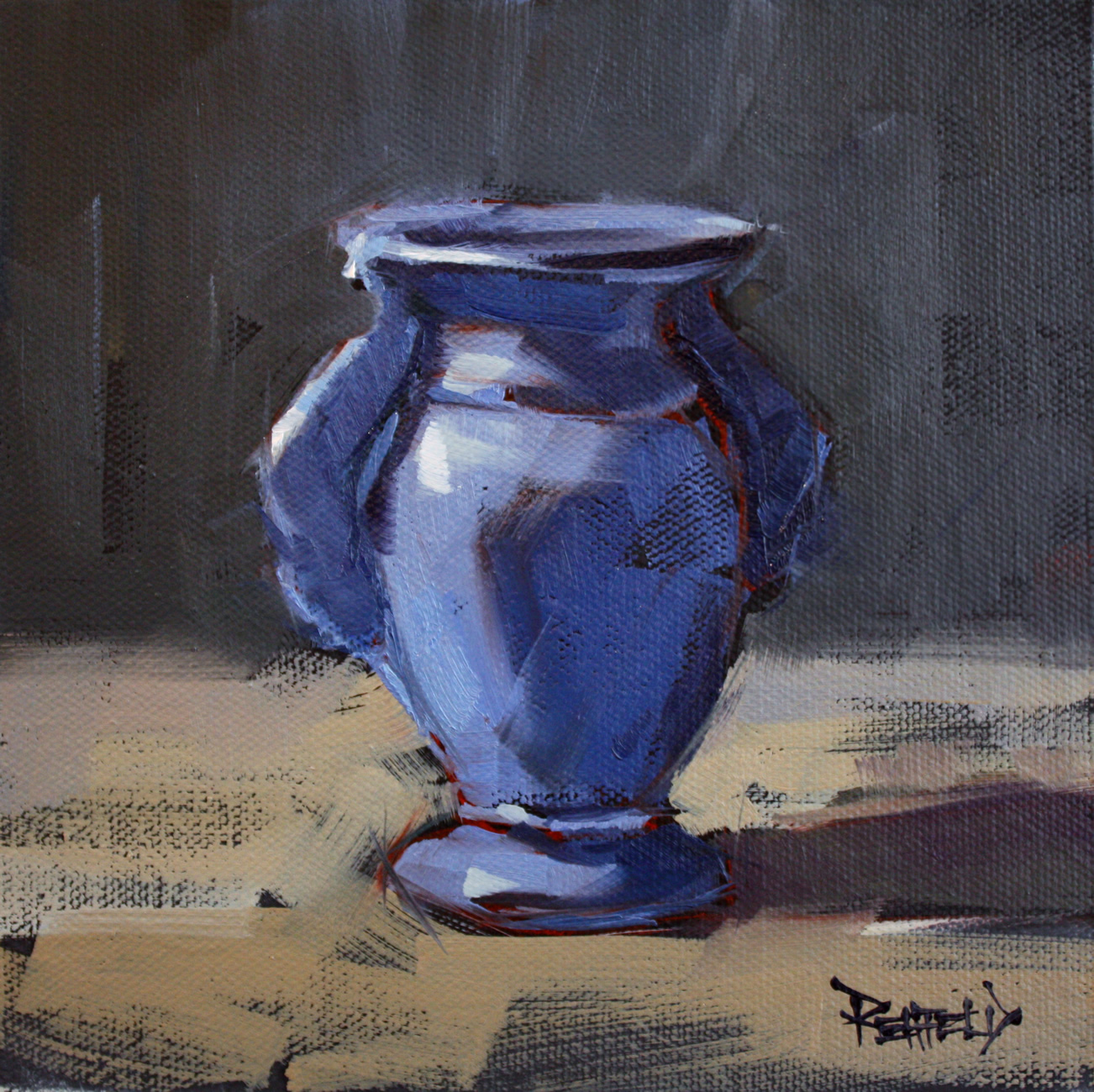 """Little Blue Vase"" original fine art by Cathleen Rehfeld"