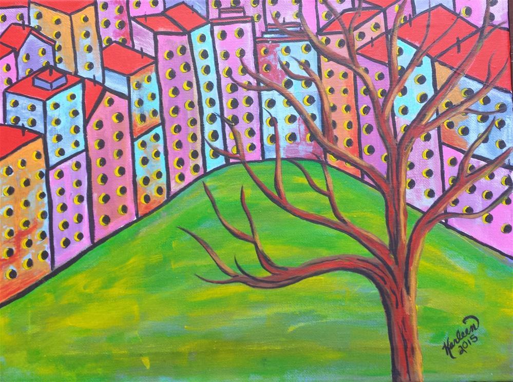 """Overlooking the Park"" original fine art by Karleen Kareem"