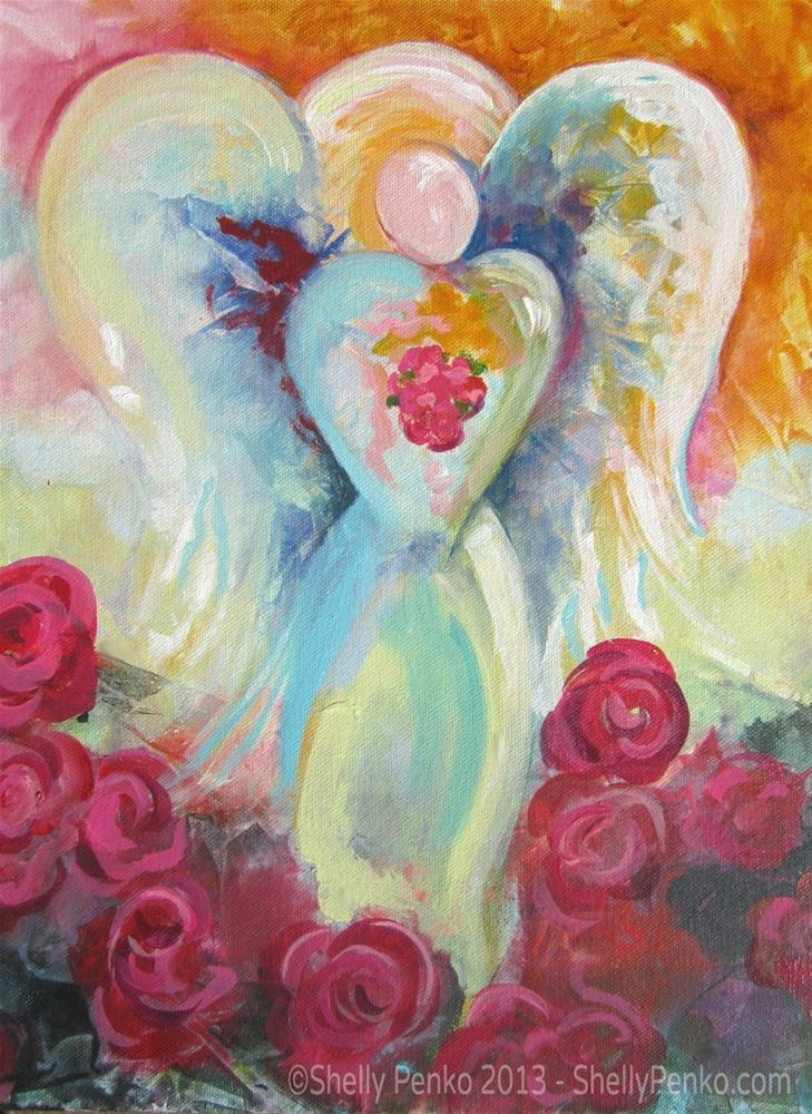"""Angel of Spring"" original fine art by Shelly Penko"