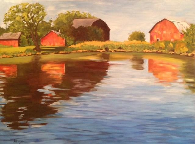 """Peaceful River II"" original fine art by Karen D'angeac Mihm"
