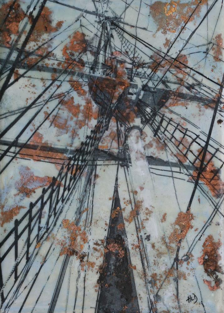 """Charles W. Morgan"" original fine art by Heather Douglas"