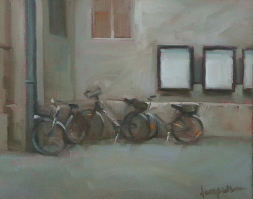 """Church Parking"" original fine art by Dana Cooper"